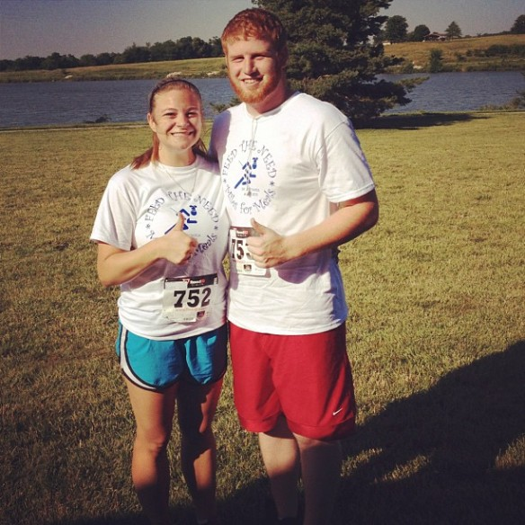 My first 5K! June 2012.